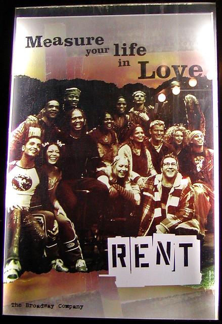 RENT Poster - Cast