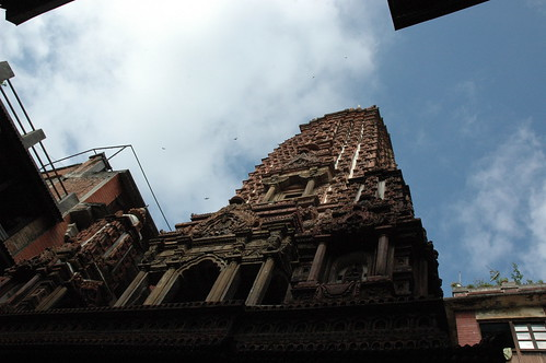 "Mahabuddha Temple, also known as ""temple of thousand buddhas"" is a skikhar style buddhist temple, Kathmandu, Nepal by Wonderlane"