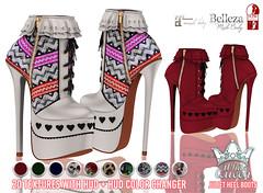 White Queen - Juliet heel boots