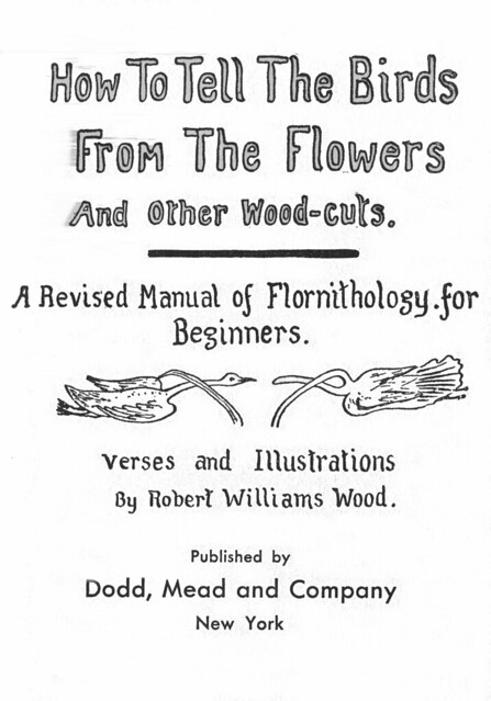 Flornithology title page by Robert W. Wood