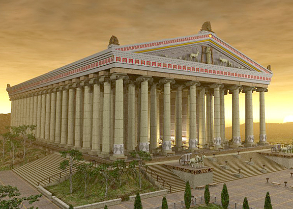 The Temple of Artemis, greek goddess of hunting and nature.