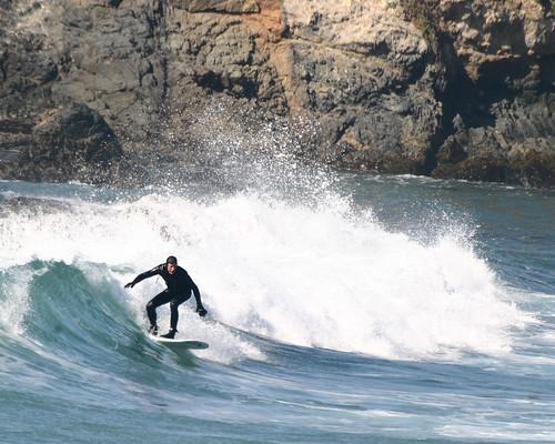 Surfing near Cambria (N. California)