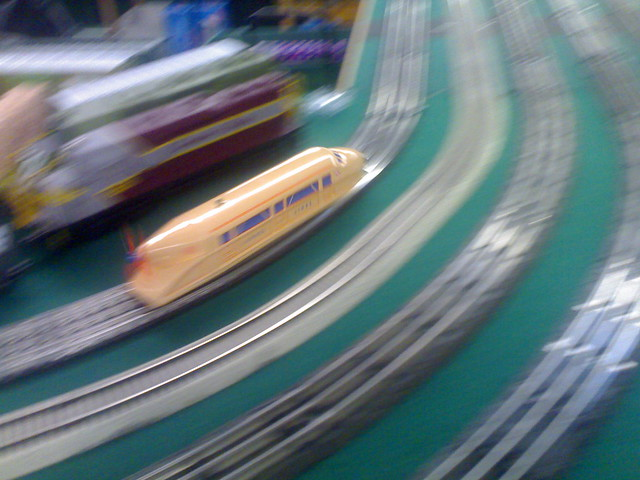 Lionel Model Train Wizzing By