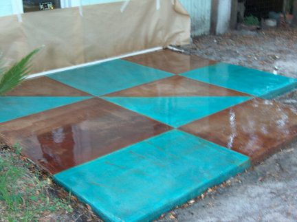 Concrete Acid Stained Patio Concrete Acid Stain In