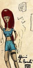 anime, costume design, drawing, cartoon, illustration,