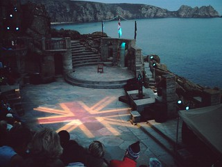 Minack Theatre on the Cornish Coastal Path at end of Day 1