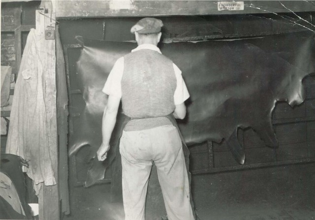 Leather Working In Walsall Circa 1970