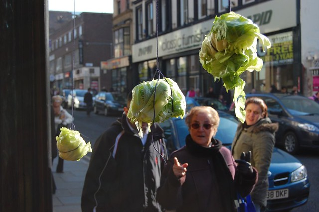 traditional pointing at lettuce festival