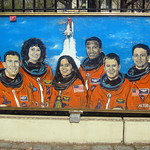 NYC - Brooklyn - Crown Heights - Dr. Ronald McNair Park - Challenger mural