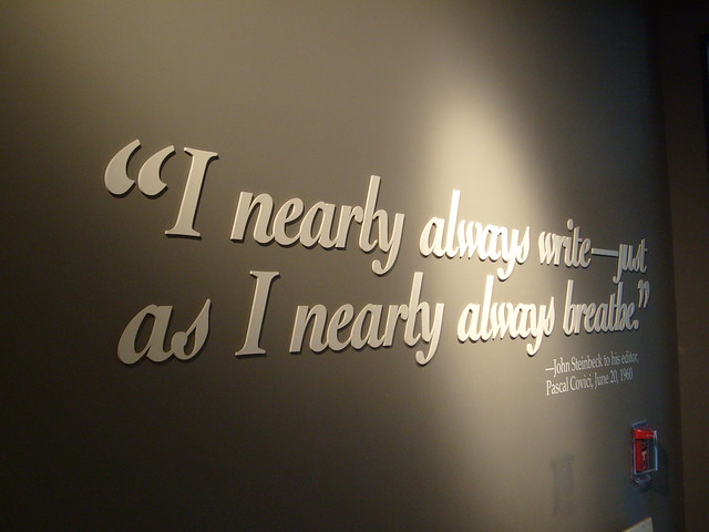 John Steinbeck Writing Quote