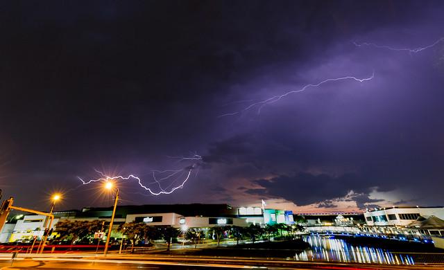 storm over maroochydore