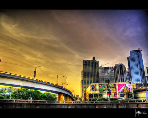 road street city sky urban streets building beautiful sunrise buildings mall wonderful shopping skyscape photography dawn high amazing skies cityscape dynamic cities center highrise manila tall roads range hdr breathtaking galleria highrises nige robinsons ortigas flickraward platinumheartaward platinumpeaceaward