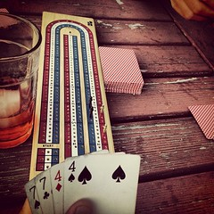 Cribbage and cocktails - against, loosing to my cribbage teacher. by ericgundersen