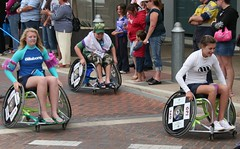 endurance sports(0.0), cycling(0.0), bicycle(0.0), wheelchair sports(1.0), vehicle(1.0), sports(1.0), wheelchair racing(1.0),