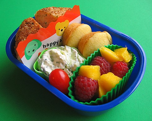 Salmon cake lunch for preschooler v1