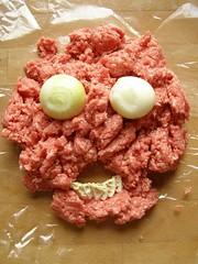 produce(0.0), corned beef(1.0), meat(1.0), steak tartare(1.0), food(1.0), dish(1.0), cuisine(1.0),