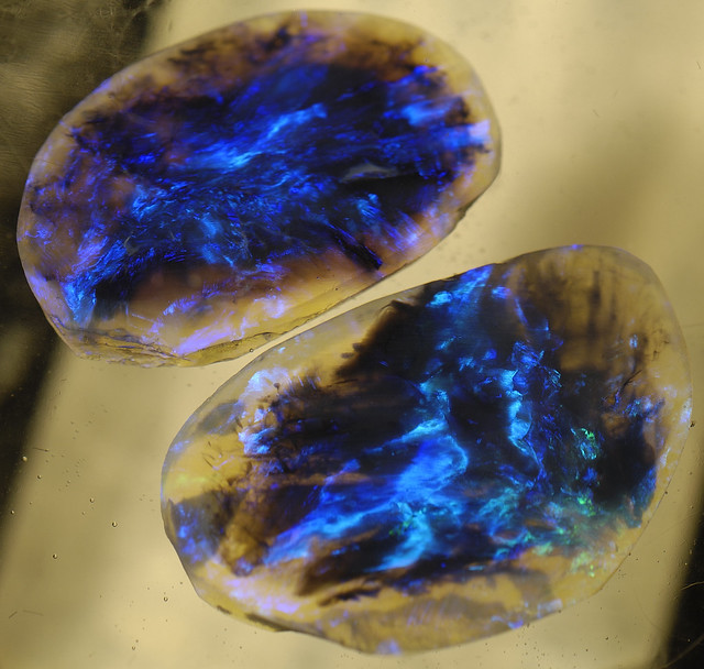 Lightning Ridge Black Opal Pair
