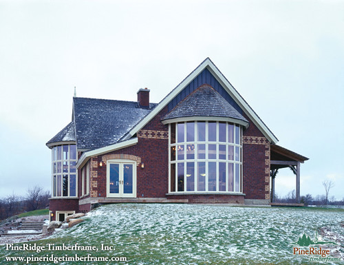 Custom timber frame home pineridge timberframe flickr Ontario farmhouse plans