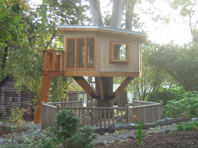 Modern tree house this is a modern tree house in the ten for Modern tree house plans