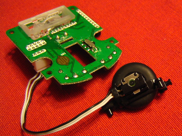 Mouse sensor PCB and scroll wheel | Flickr - Photo Sharing!