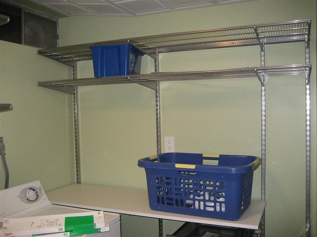 more laundry room storage shelving and a folding tab. Black Bedroom Furniture Sets. Home Design Ideas