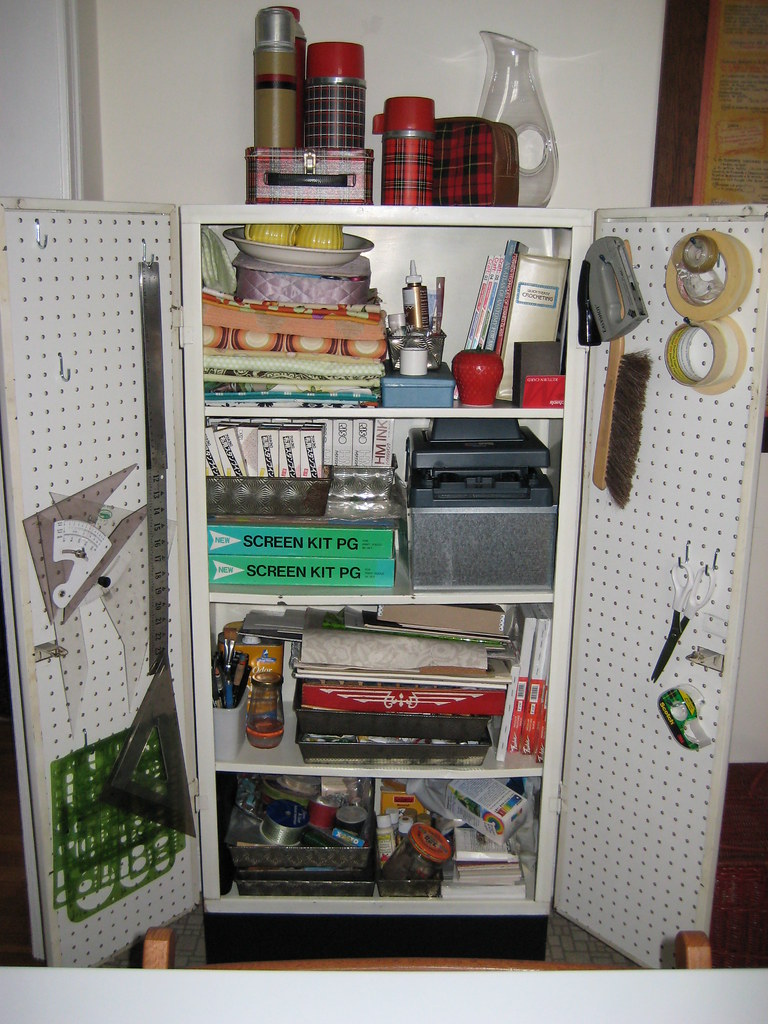 Crafting Cabinet Innards | I Reorganized The Supplies In My ...