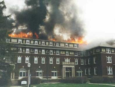 fire university dormitory depauw rectorhall 04072002
