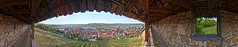 View of Esslingen from the castle -- 360 deg HDR Panorama