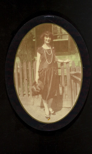 Woman with two strand necklace
