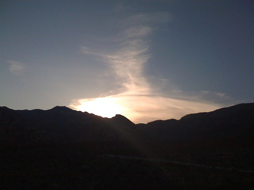 vegas sunset moblog nevada redrock