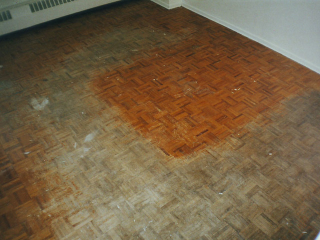 Parquet Flooring Before Refinishing Midland Multi Service Flickr