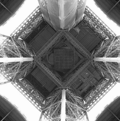 Eiffel Tower from below!