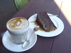 $6 coffee and cake deal, Groove Cafe, Ipswich Rd, Annerley Junction, Brisbane, Queensland, Australia 090617