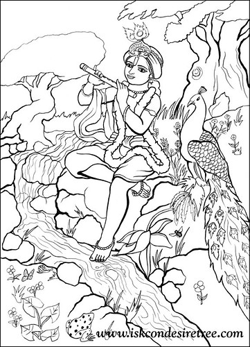 Flickriver most interesting photos tagged with narshima for Coloring pages of krishna