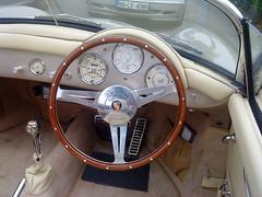 automobile, automotive exterior, vehicle, porsche 356, steering wheel, antique car, classic car, vintage car, land vehicle, luxury vehicle,