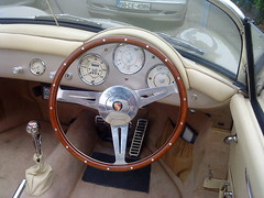 wheel(0.0), mg mga(0.0), mercedes-benz 190sl(0.0), automobile(1.0), automotive exterior(1.0), vehicle(1.0), porsche 356(1.0), steering wheel(1.0), antique car(1.0), classic car(1.0), vintage car(1.0), land vehicle(1.0), luxury vehicle(1.0),