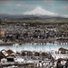 Portland, Oregon with Mt. Hood in background by OSU Special Collections & Archives : Commons