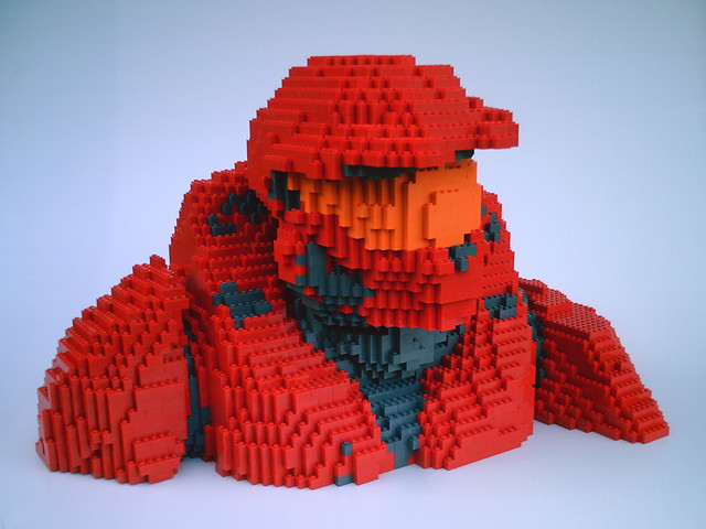 LEGO Halo RvB Sarge - front