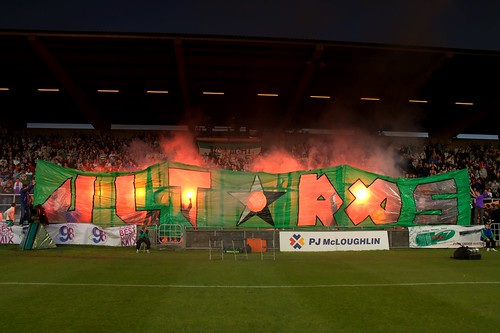 shamrock rovers ultras display