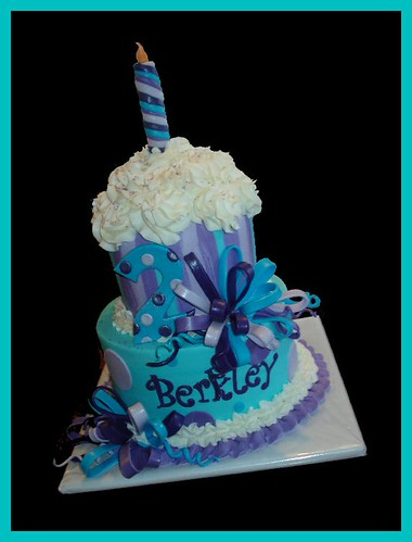 Giant cupcake cake for Berkley
