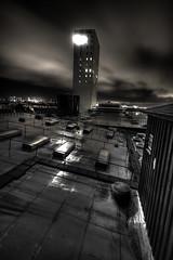 Carlsberg headquarter on a wet night