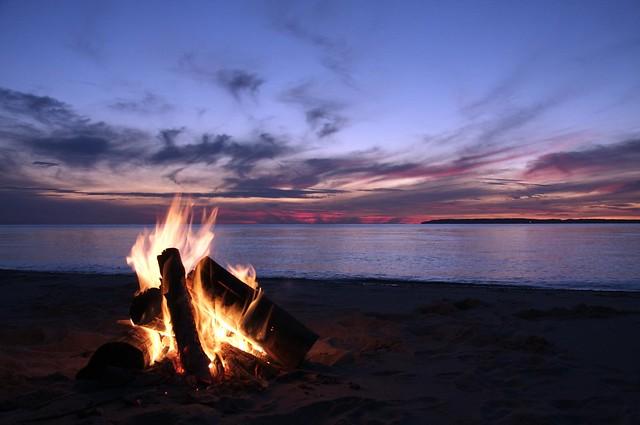 Click It Rv >> Beach Camp fire, Lake Michigan | Flickr - Photo Sharing!