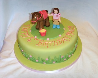 Horse Themed Birthday Cake
