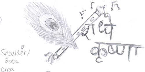 Krishna Flute Designs Tattoo Design Feather Flute