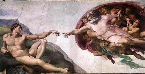 Michelangelo, Creazione di Adamo – en la Capilla Sixtina – (1510)