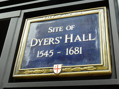 Photo of Dyers' Hall, London blue plaque
