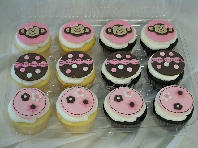 Monkey baby shower cupcakes flickr photo sharing