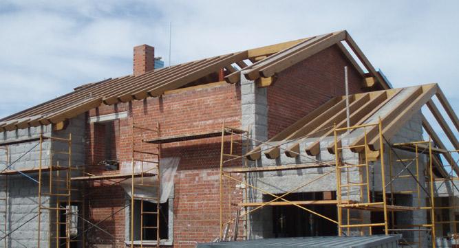 Cubierta principal y porches maderas pisuerga - Estructura madera laminada ...