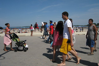 Image of Orchard Beach near Village of Pelham Manor. nyc beach bronx pelhambaypark 2009 memorialday orchardbeach