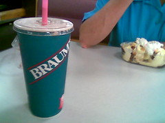 My shake and my mother's sundae from Braum's.